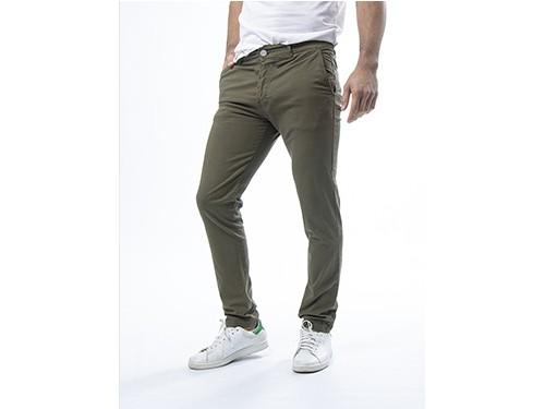Pantalón chino de hombre gabardina elastizado semi recto Kazuma