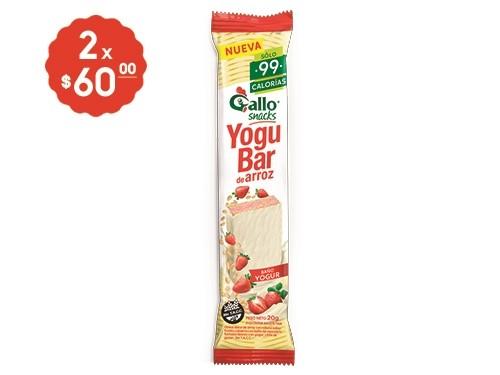 2 x $60 Yogubar de Arroz Gallo 22 Gr.