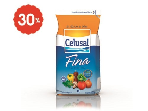 Sal Fina en Paquete Celusal 500 Gr.