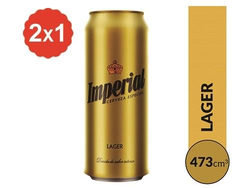 2x1 Cerveza Imperial Lata 473 ml.