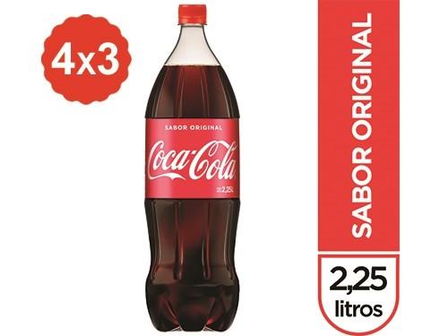 4x3 Gaseosa Coca-Cola Sabor Original 2,25 Lts.