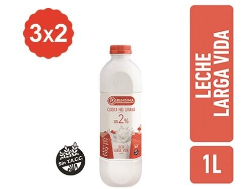 3X2 Leche Descremada La Serenísima botella 1 Lt.