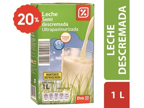 Leche Descremada DIA Ultrapasteurizada 1 Lt.