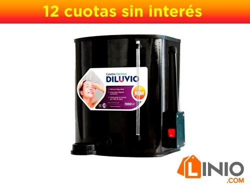 Calefon Electrico Ducha 20 Litros Diluvio D20 Max Seguridad-Negro
