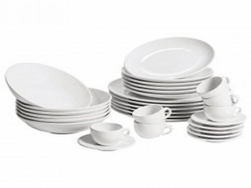 Set Vajilla 30 Piezas Alfa Blanco