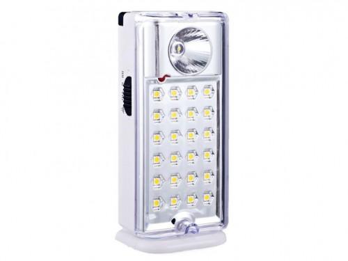 Luz de Emergencia Portátil 24 LEDs con Linterna