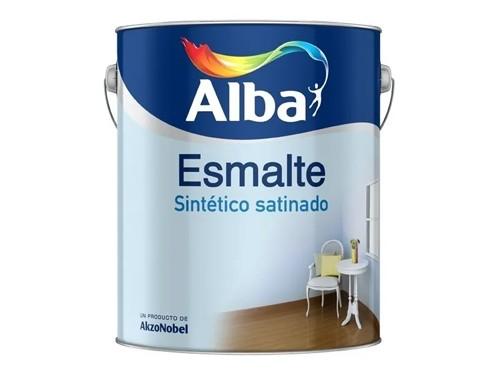 Esmalte sintético satinado blanco Alba Standard 1 Litro