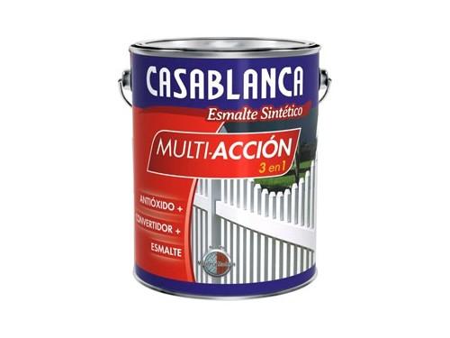 Esmalte sintético blanco brillante Casablanca Multiacción 4 litros