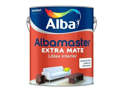 Pintura látex interior Albamaster Extra Mate 4 litros