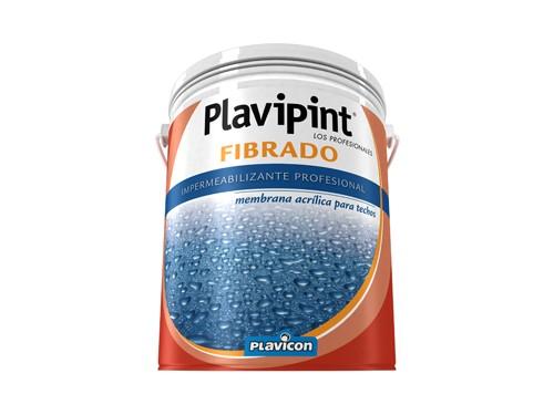 Impermeabilizante fibrado rojo Plavicon Plavipint 10 Kilos