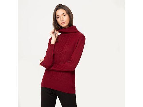Stefano Cocci sweater de mujer con cuello alto y trenzas