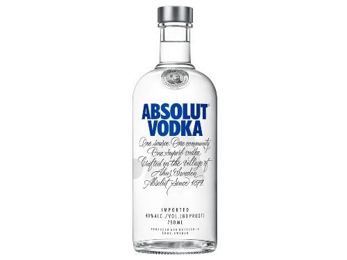 Absolut Original Vodka De Suecia Botella De 750 Ml