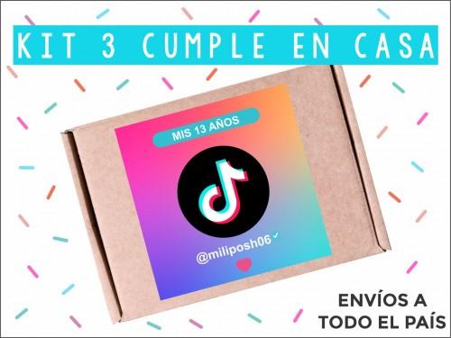 KIT Temática Tik Tok Cumpleaños en Casa - La felicidad hecha caja