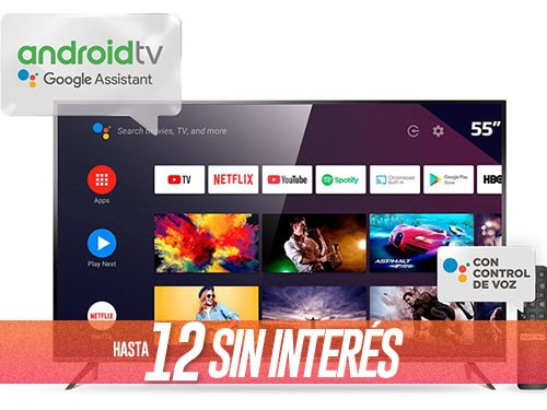 """Smart Tv 55"""" 4K Ultra HD L55P8M Con Android TCL"""