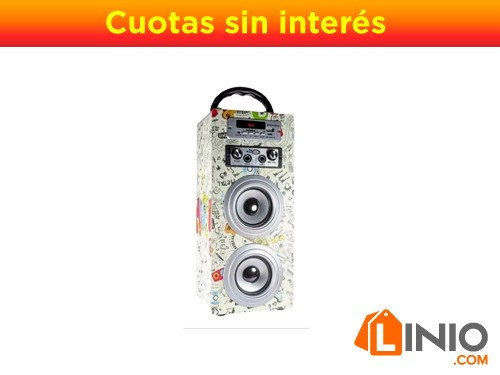 Parlante Portatil Con Remoto Bluetooth Fm Daihatsu D-s20 Usb