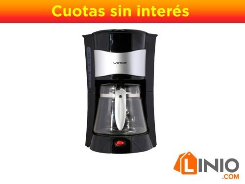 Cafetera Electrica Winco Filtro W1913 Para 12 Pocillos-Negro