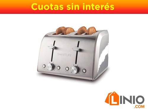 Tostadora Eléctrica Smartlife Tod6811 4 Panes Bahías 1400w