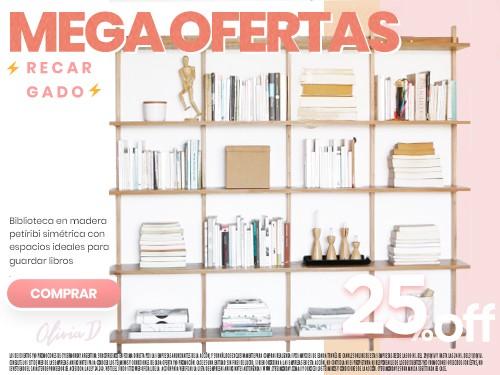 BIBLIOTECA DE MADERA COLGANTE 170x160 Y A MEDIDA, OLIVIA D