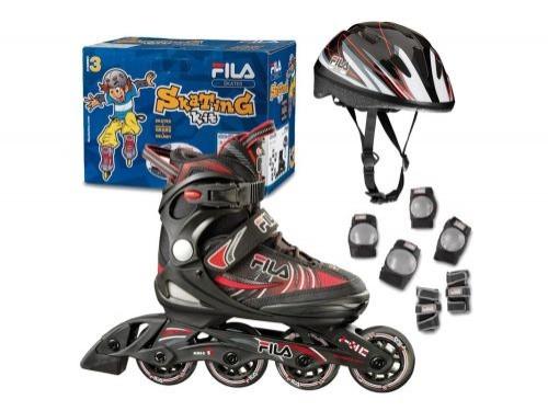Kit de rollers para niños con protecciones - FILA
