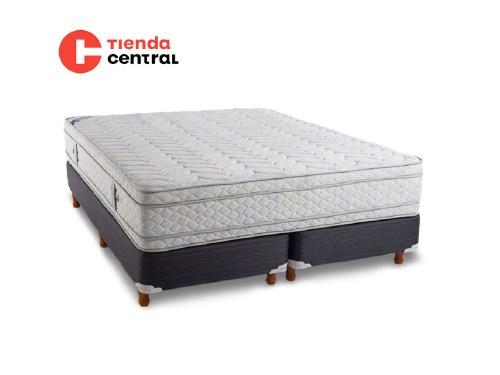 Colchón y Sommier Queen 160x200x31 Topacio Complete Doux Pillow