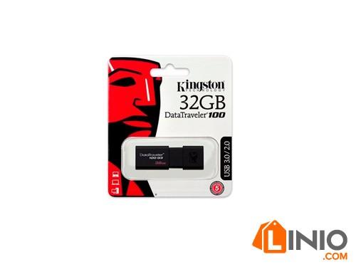 Pen Drive 32 Gb Kingston 2.0 3.0 Dt100g3/32 Retractil Usb