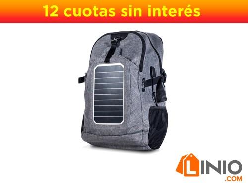 Mochila Solar EXO P/Cargar Celular C/Panel Solar