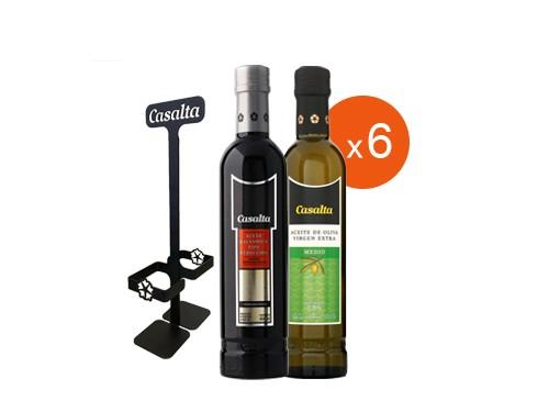 6 Aceto Tipo Reducción 400ml + 6 Aceite de Oliva Suave 400ml + REGALO