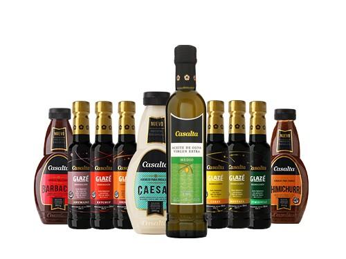 Glazé 6 Variedades + Aceite de Oliva 400ml + 12 salsas SIN TACC