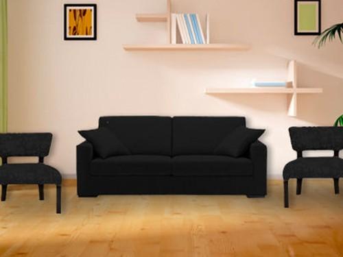 Sillón mas dos sillas materas con almohadones. Tapizado a eleccion