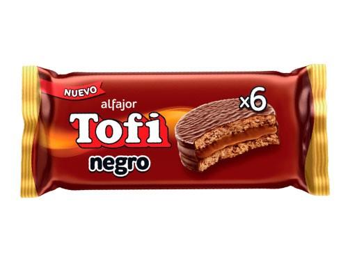 Alfajor Chocolate Negro Pack 6 Un Tofi 46 Gr - Llevá 3x2