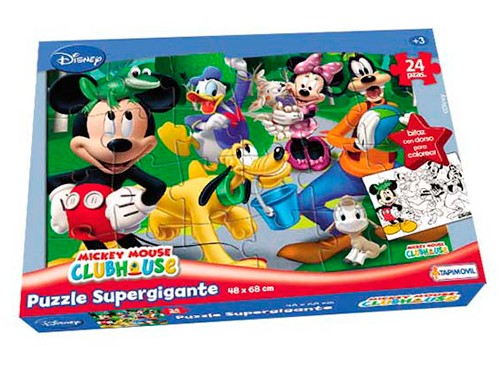Rompecabezas Mickey Puzzle Disney 24 P Gigante Premium Reversible