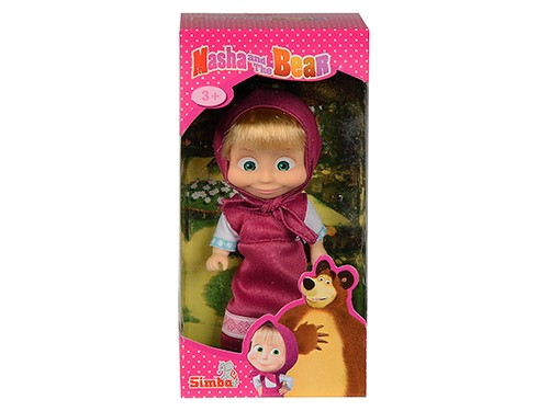 Muñeca Masha Y El Oso 12 Cm Hermosa Rosa Original Simba