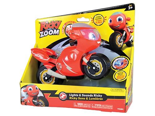 Ricky Zoom Moto Figura Original Marca Tomy Luz Sonido 20 Cm