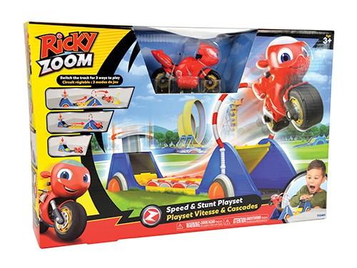 Playset Velocidad Y Acrobacias Pista Saltos Ricky Zoom Moto