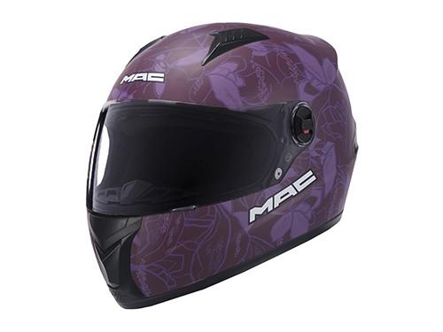 Casco Moto Mujer Integral Organic Violeta MAC