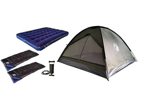 Combo Carpa Dome 4 Personas + Colchon Inflable + 2 Bolsas de dormir