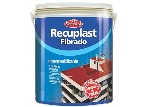 Membrana Liquida Para Techos Fibrado Blanco Recuplast 10 Kg
