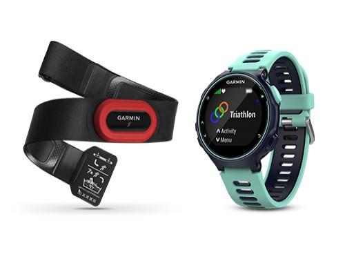 Reloj GPS Triatlon Forerunner 735xt Celeste con Banda Cardíaca Garmin